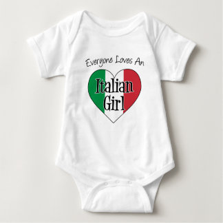 Everyone Loves An Italian Girl Baby Bodysuit