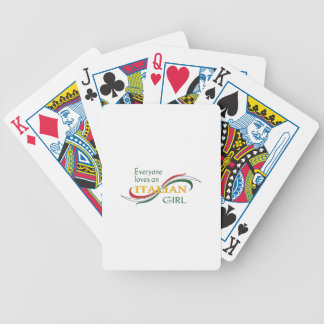 EVERYONE LOVES AN ITALIAN GIRL BICYCLE PLAYING CARDS