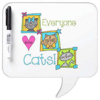 Everyone Loves Cats Dry-Erase Board