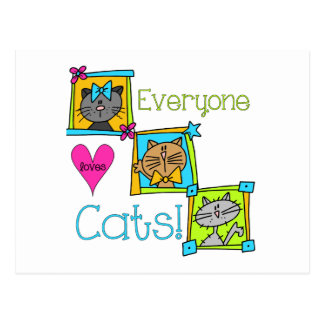 Everyone Loves Cats Post Card