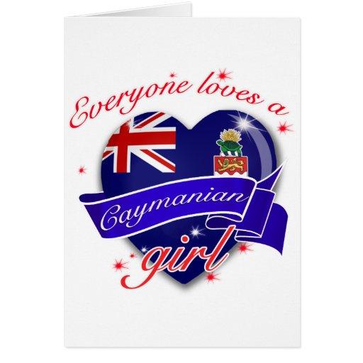 Everyone loves Cayman island girl Card