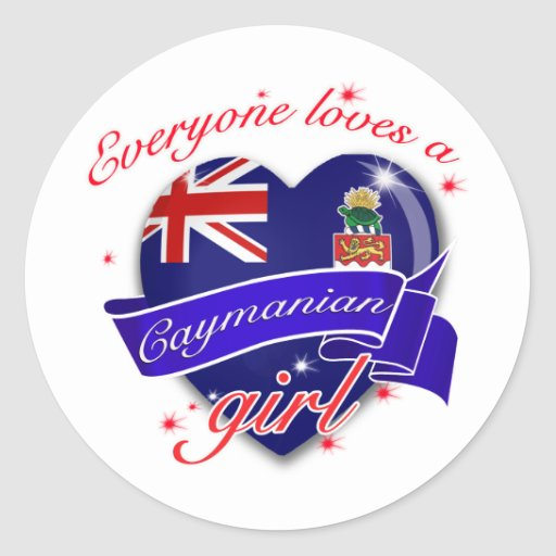 Everyone loves Cayman island girl Stickers