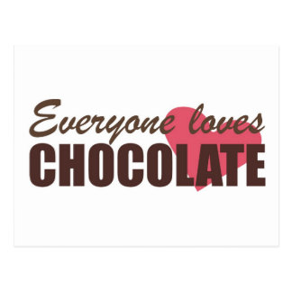 Everyone Loves Chocolate Postcard