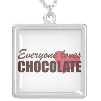 Everyone Loves Chocolate Silver Plated Necklace