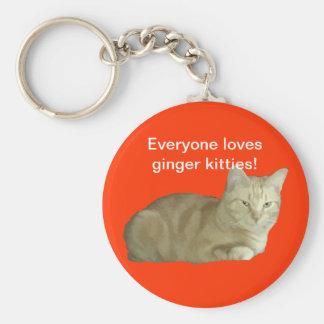 Everyone Loves Ginger Kitties Keychain