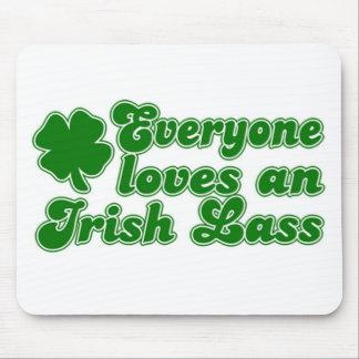 Everyone Loves Irish Lass Mouse Pad