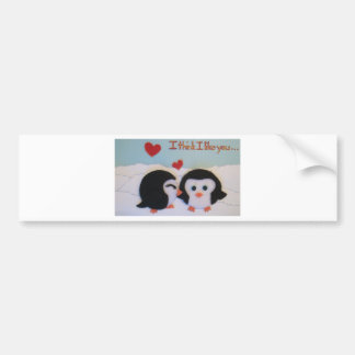 Everyone loves penguins! bumper sticker