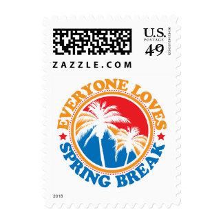 Everyone Loves Spring Break! Postage Stamps