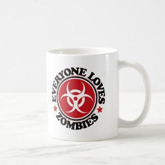 Everyone Loves Zombies - Red Coffee Mug