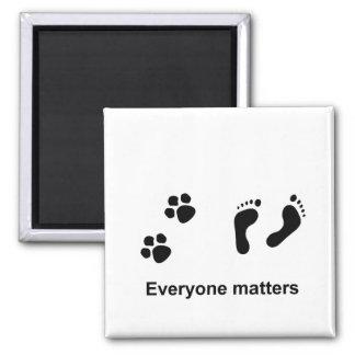 Everyone matters refrigerator magnets