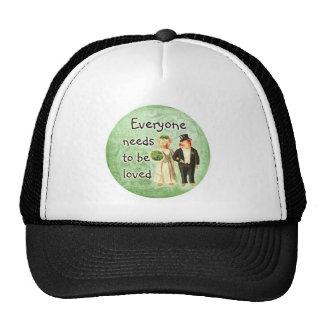 everyone needs love-- cute pig couple hat