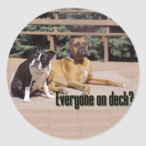 Everyone on deck? classic round sticker