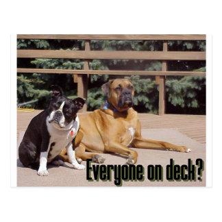 Everyone on deck? postcard