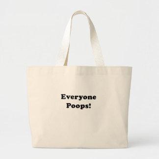 Everyone Poops Canvas Bags