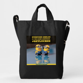 EVERYONE SMILES IN THE SAME LANGUAGE DUCK BAG