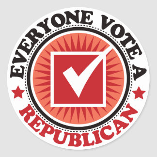 Everyone Vote A Republican Round Stickers