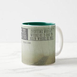 Everyone Who Got Where He Is Two-Tone Coffee Mug