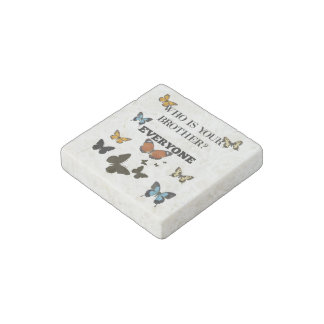 Everyone with Butterfly Background Stone Magnet