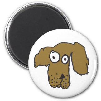 Everyone's Brown Dog 2 Inch Round Magnet