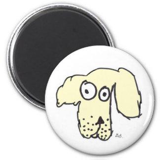 Everyone's cream dog 2 inch round magnet
