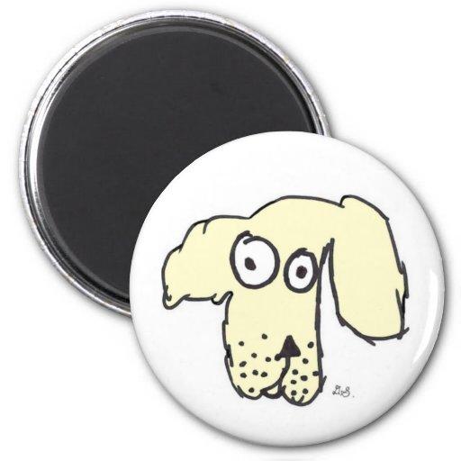 Everyone's cream dog magnet