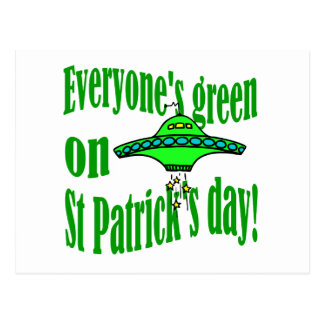 Everyone's green on St Patrick's day Postcard