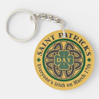 Everyone's Irish Single-Sided Round Acrylic Keychain