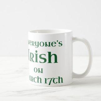 Everyone's Irish On March 17th Coffee Mug