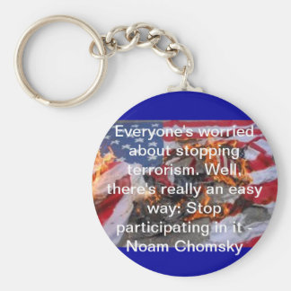Everyone's worried about stopping terrorism... key chain