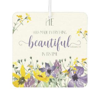 Everything Beautiful - Ecc 3:11 Car Air Freshener