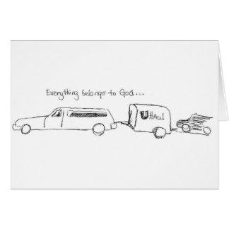 Everything belongs to God. Card