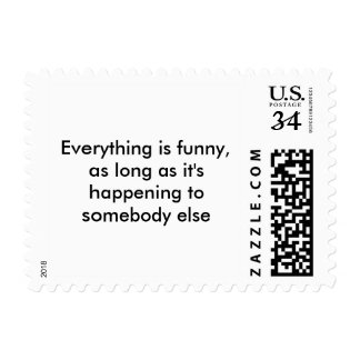 Everything can be  funny postage