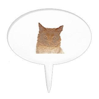 Everything Cats Design Cake Picks