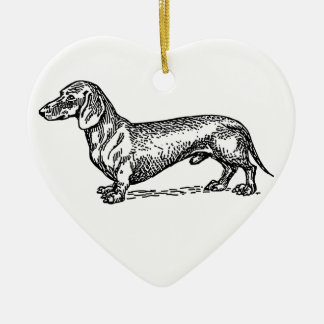 Everything Dachshund Ceramic Ornament