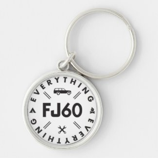 Everything FJ60 Logo Keychain
