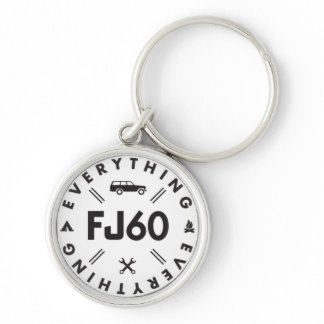 Everything FJ60 Logo Keychain