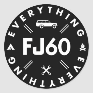Everything FJ60 Logo Sticker - Black