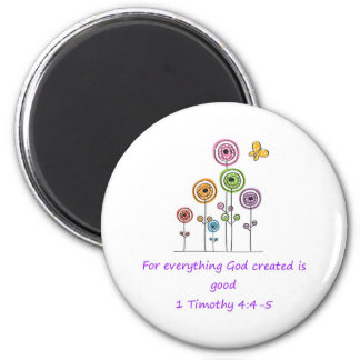 Everything God Created 2 Inch Round Magnet