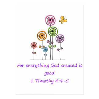 Everything God Created Postcard