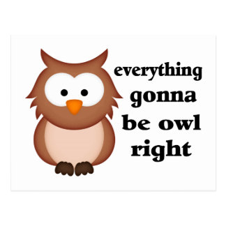 Everything Gonna Be Owl Right Postcard