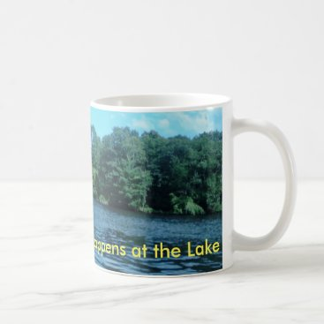 Coffee Themed Everything Good Happens at the Lake Coffee Mug