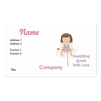 Everything Grows WIth Love Fairy Business Card