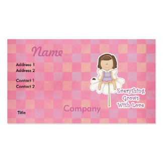 Everything Grows WIth Love Fairy Business Card Templates