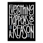 Everything Happens Black Card