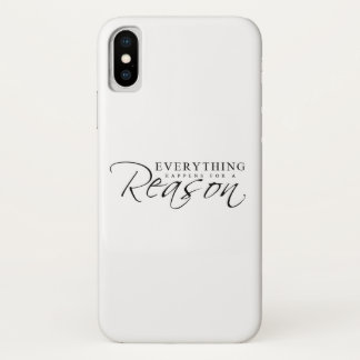 Everything Happens for a Reason Button iPhone Case