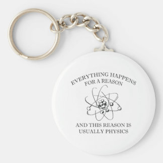 Everything Happens For A Reason Basic Round Button Keychain