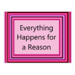 Everything Happens for a Reason Post Card