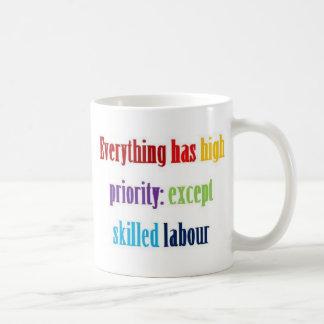 Everything has high priority coffee mugs