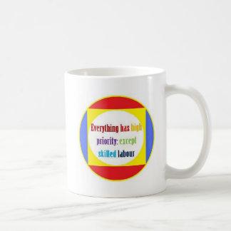 Everything has high priority: mugs