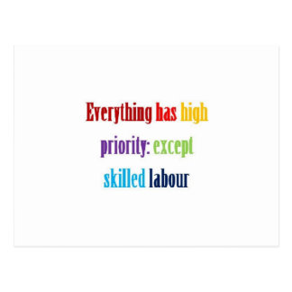 Everything has high priority: postcard